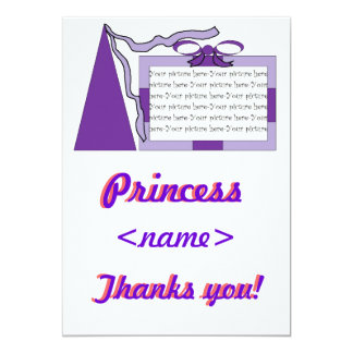Princess Purple/Purple Hat Birthday Party Thank Yo Card