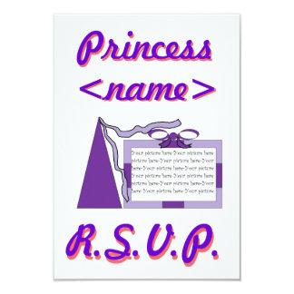 Princess Purple/Purple Hat Second Birthday Party R Card