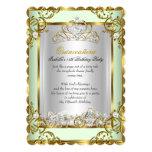 Princess Quinceanera 15th Birthday Mint Green Card