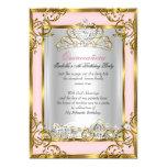 Princess Quinceanera 15th Birthday Pink Peach 5x7 Paper Invitation Card