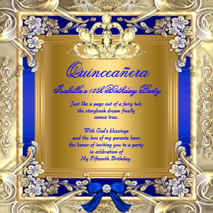 Royal Blue Quinceanera Invitations Zazzle