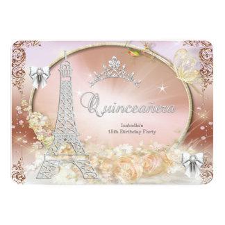 Princess Quinceanera Magical Cream Silver Card