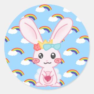 Princess Rainbow Classic Round Sticker