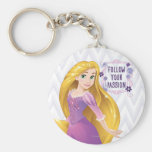 Princess Rapunzel Basic Round Button Keychain