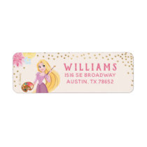Princess Rapunzel   Floral Gold Confetti Label