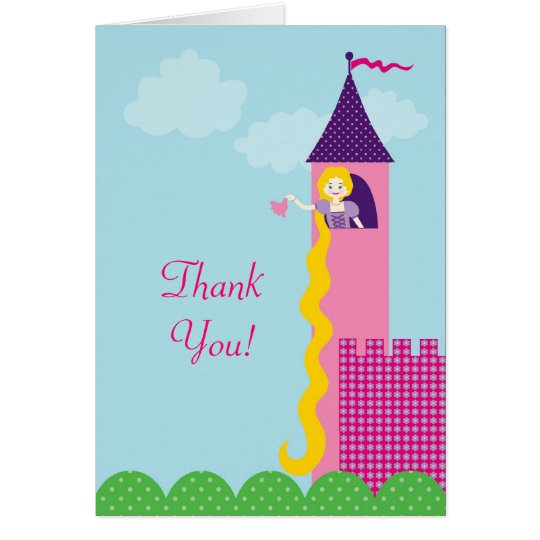 Princess Rapunzel Thank You Card