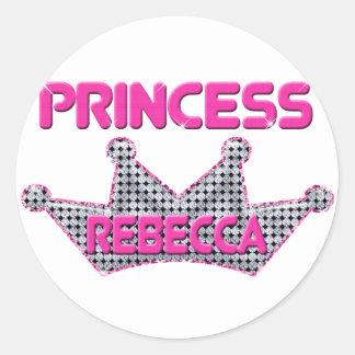 Princess Rebecca Classic Round Sticker