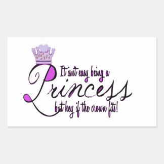 Princess Rectangular Sticker