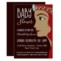 Princess Red Baby Shower Card