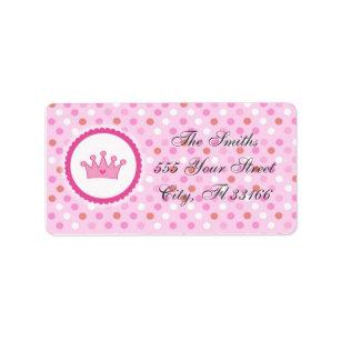 Crown Birthday Labels Zazzle