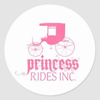 Princess Rides Inc. Classic Round Sticker