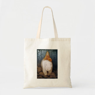 Princess Riding King Polar Bear Tote Bags