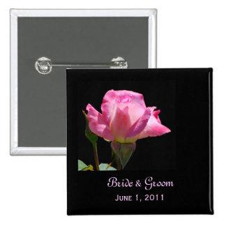 Princess Rose Bride & Groom Button