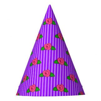Princess Rosebud Stripes-1-PAPER PARTY HATS