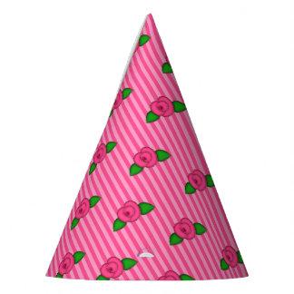 Princess Rosebud Stripes-3-PAPER PARTY HATS