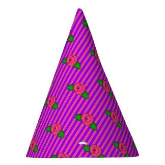 Princess Rosebud Stripes-4-PAPER PARTY HATS