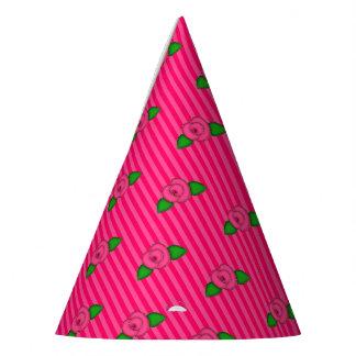 Princess Rosebud Stripes-5-PAPER PARTY HATS