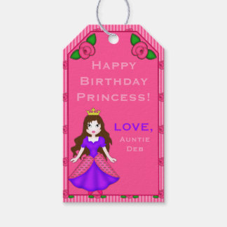 Princess Rosebud Stripes-GIFT TAGS-02BR Gift Tags