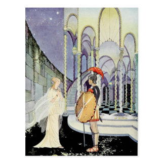 Princess Rosette and Soldier Postcard