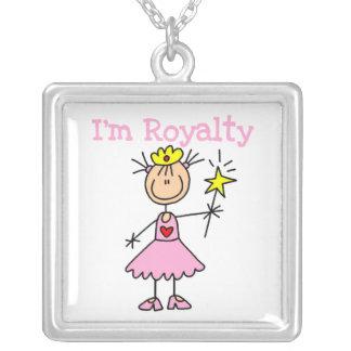 Princess Royalty Square Pendant Necklace