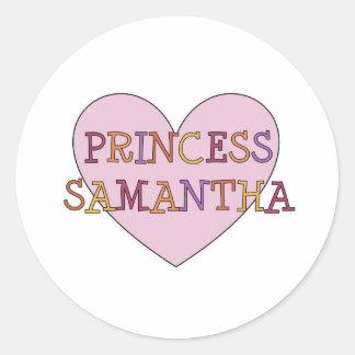 Princess Samantha Classic Round Sticker