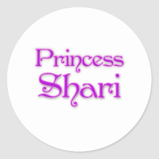 Princess Shari Round Stickers