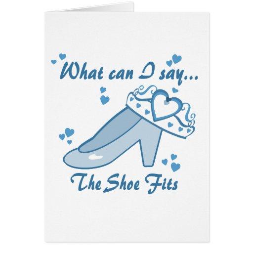 Princess Shoe Fits Greeting Cards