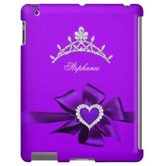 Princess Silver Tiara Purple Heart Bow 3