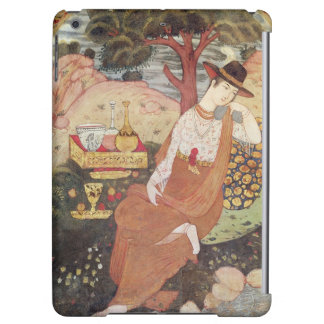 Princess sitting in a garden, Safavid Dynasty Cover For iPad Air