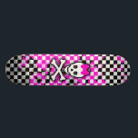 "Princess Skull Girls Skateboard<br><div class=""desc"">Checkerboard Skull Princess girls skateboard. Graphic by artist Roseanne Jones.</div>"