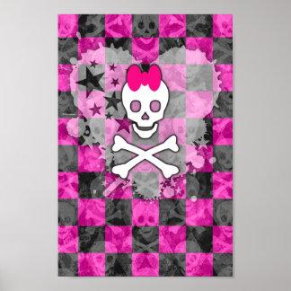 Princess Skull Heart Poster