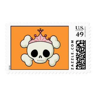 Princess Skull Postage Stamp