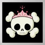 Princess Skull Print