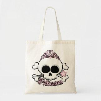 Princess Skull Tote Bag