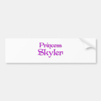 Princess Skyler Bumper Sticker