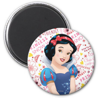 Princess Snow White 2 Inch Round Magnet
