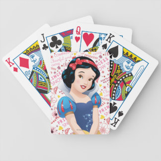 Princess Snow White Bicycle Playing Cards