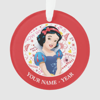 Princess Snow White | Crossing Arms Add Your Name Ornament