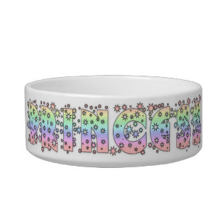 Princess Sparkles cat food Bowl