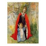 Princess Spring Mother and Daughter Postcard