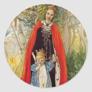 Princess Spring Mother and Daughter Classic Round Sticker