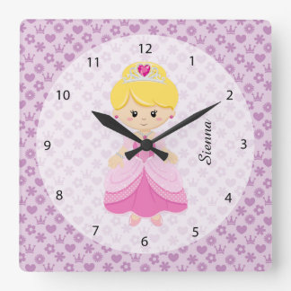 Princess Square Wall Clock