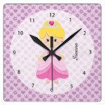 Princess Square Wall Clocks