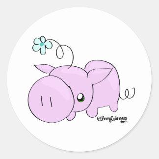 Princess Squiggle Classic Round Sticker
