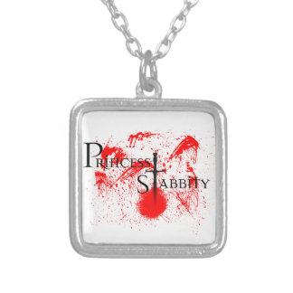 Princess Stabbity Square Pendant Necklace