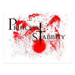 Princess Stabbity Postcard
