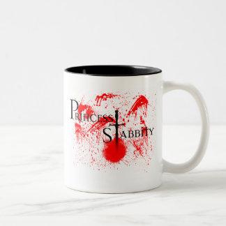 Princess Stabbity Two-Tone Coffee Mug