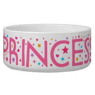 Princess Stars and Hearts Pet food bowl