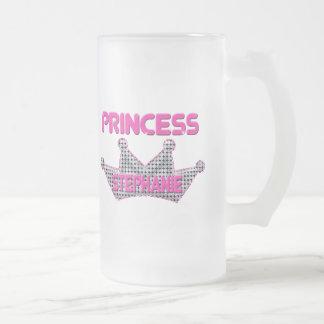 Princess Stephanie 16 Oz Frosted Glass Beer Mug