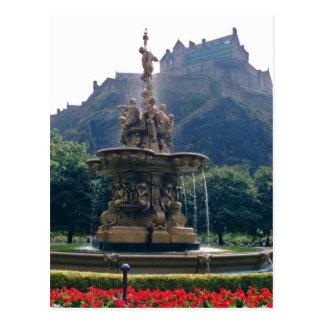Princess Street gardens, Edinburgh, Scotland f Post Cards